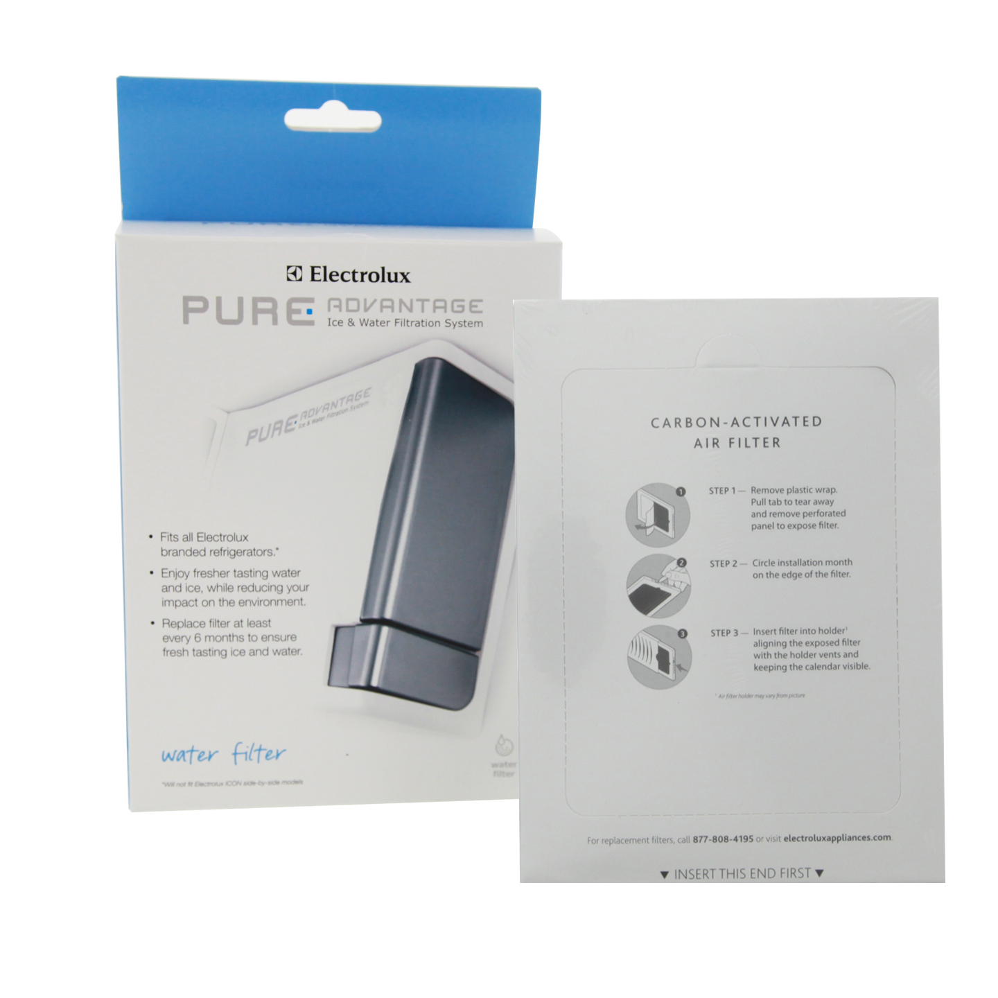 Electrolux EWF01 Pure Advantage Refrigerator Water Filter Combo with EAFCBF Air Filter ELUXCOMBO