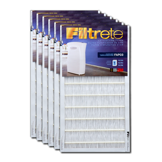 Filtrete FAPF03-6 Ultra Clean Air Purifier Replacement Filter (6-Pack) FILTRETE_FAPF03_6_PACK