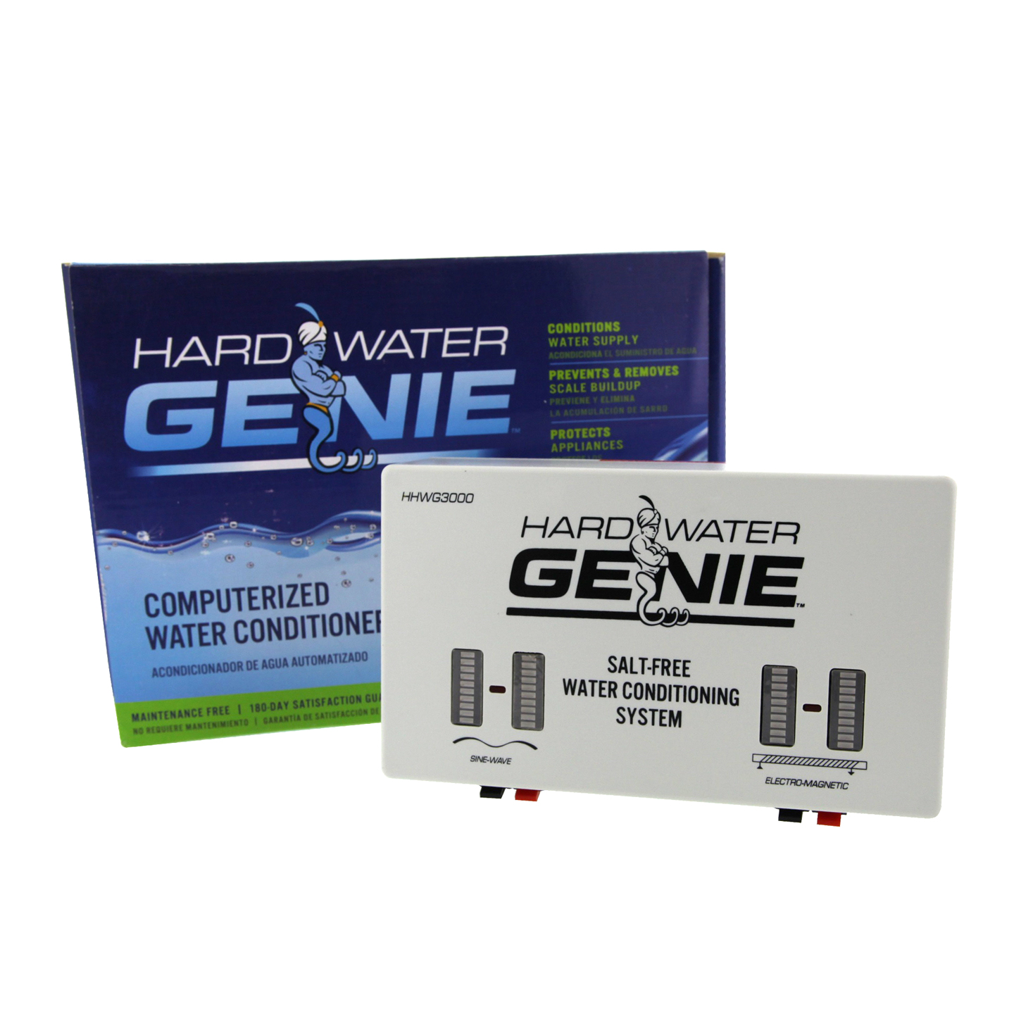 Hard Water Salt-Free Treatment Conditioner & Descaler System by Water Genie