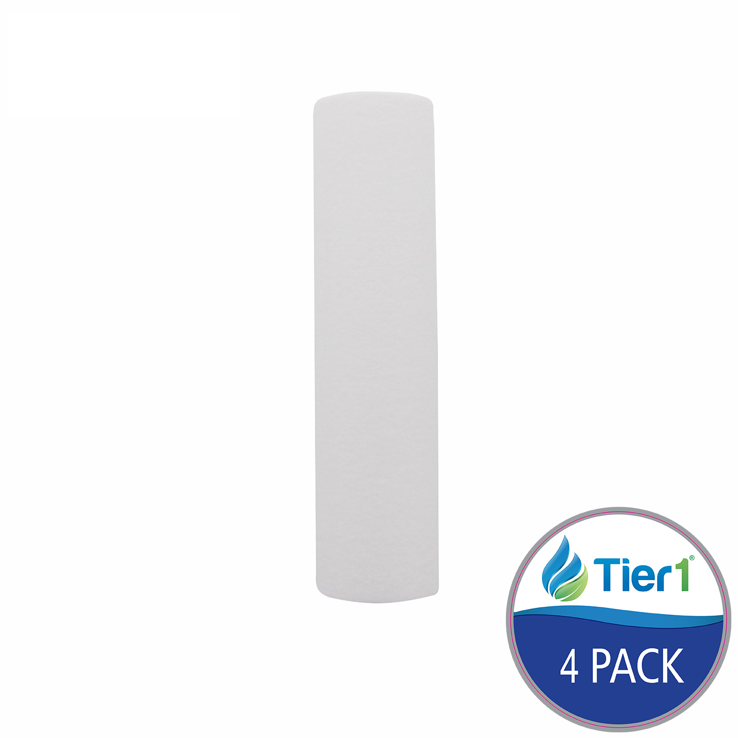 10 X 2.5 Spun Wound Polypropylene Replacement Filter by Tier1 (10 micron) (4-Pack) TIER1_P10_10_4_PACK