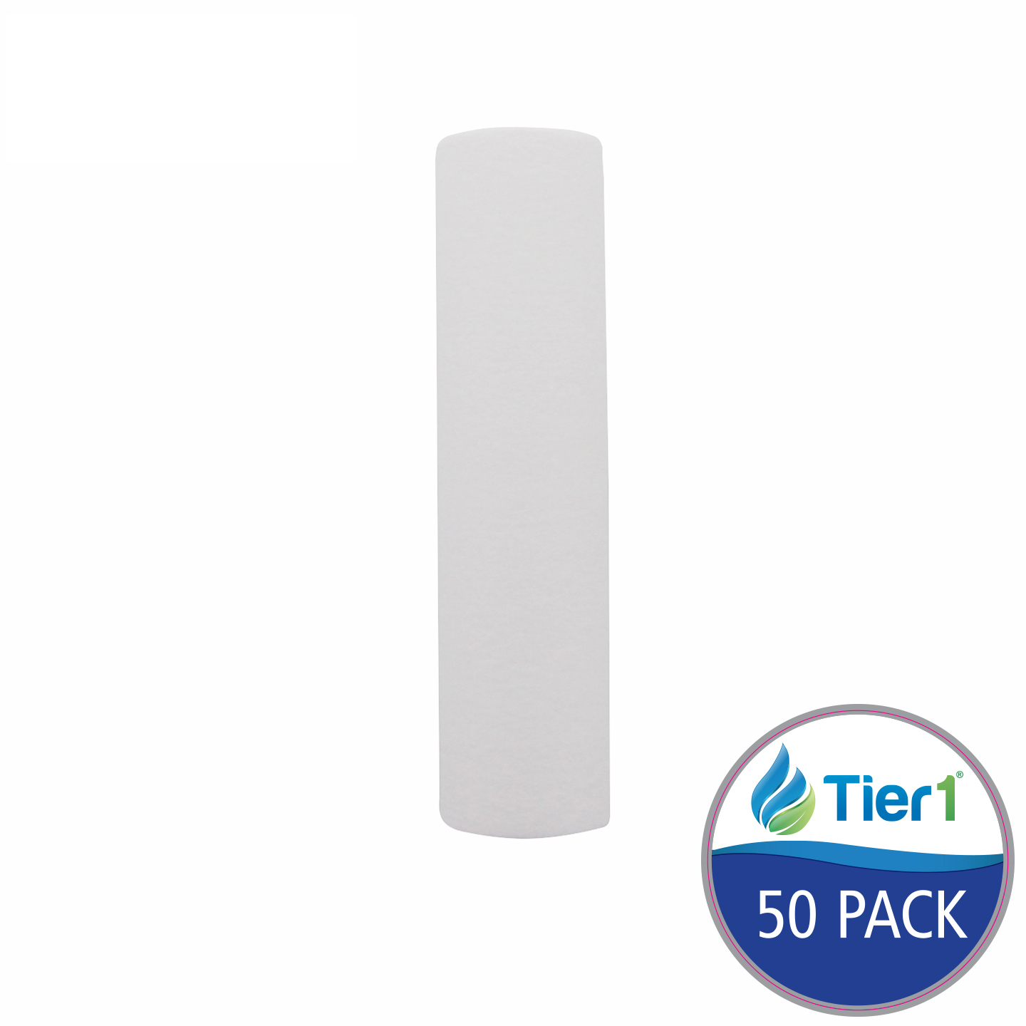 10 X 2.5 Spun Wound Polypropylene Replacement Filter by Tier1 (10 micron) (50-Pack) TIER1_P10_10_50_PACK