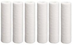 Pentek PS5-10C Polypropylene Sediment Water Filter Replacement by Tier1 (6-Pack) TIER1_P10_10_6_PACK
