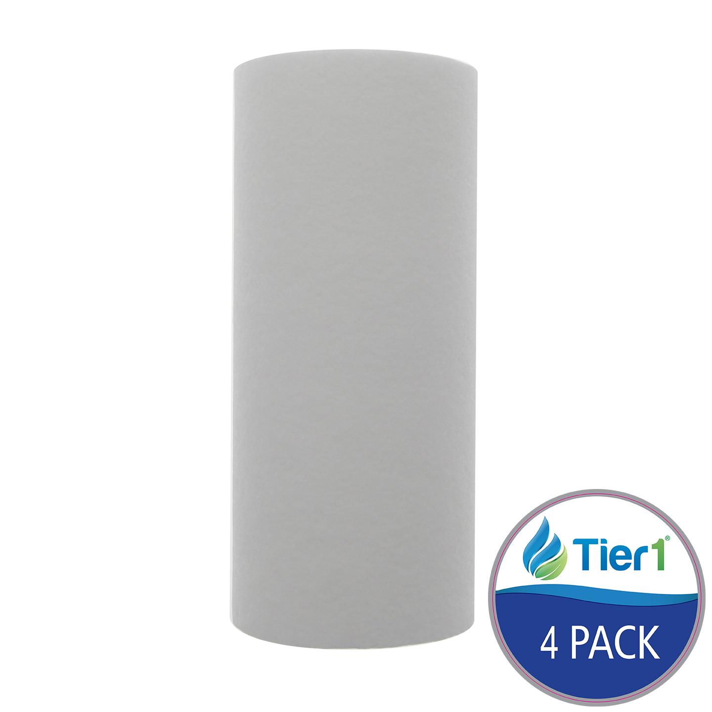 10 X 4.5 Spun Wound Polypropylene Replacement Filter by Tier1 (10 micron) (4-Pack) TIER1_P10_10BB_4_PACK