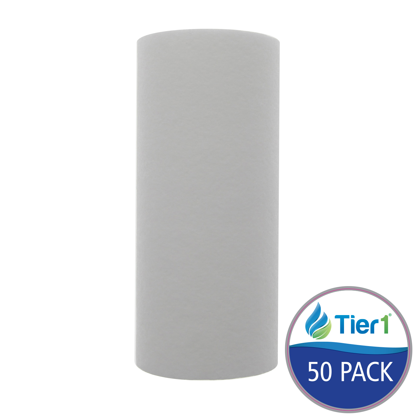10 X 4.5 Spun Wound Polypropylene Replacement Filter by Tier1 (10 micron) (50-Pack) TIER1_P10_10BB_50_PACK