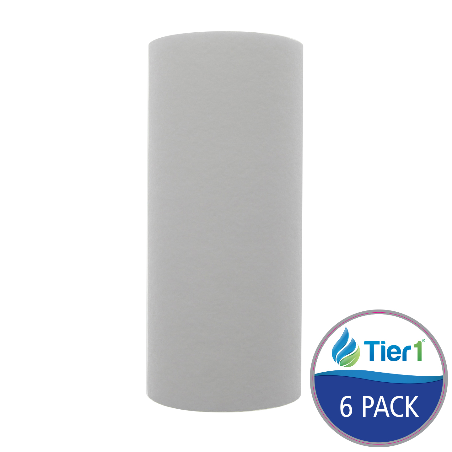 10 X 4.5 Spun Wound Polypropylene Replacement Filter by Tier1 (10 micron) (6-Pack) TIER1_P10_10BB_6_PACK