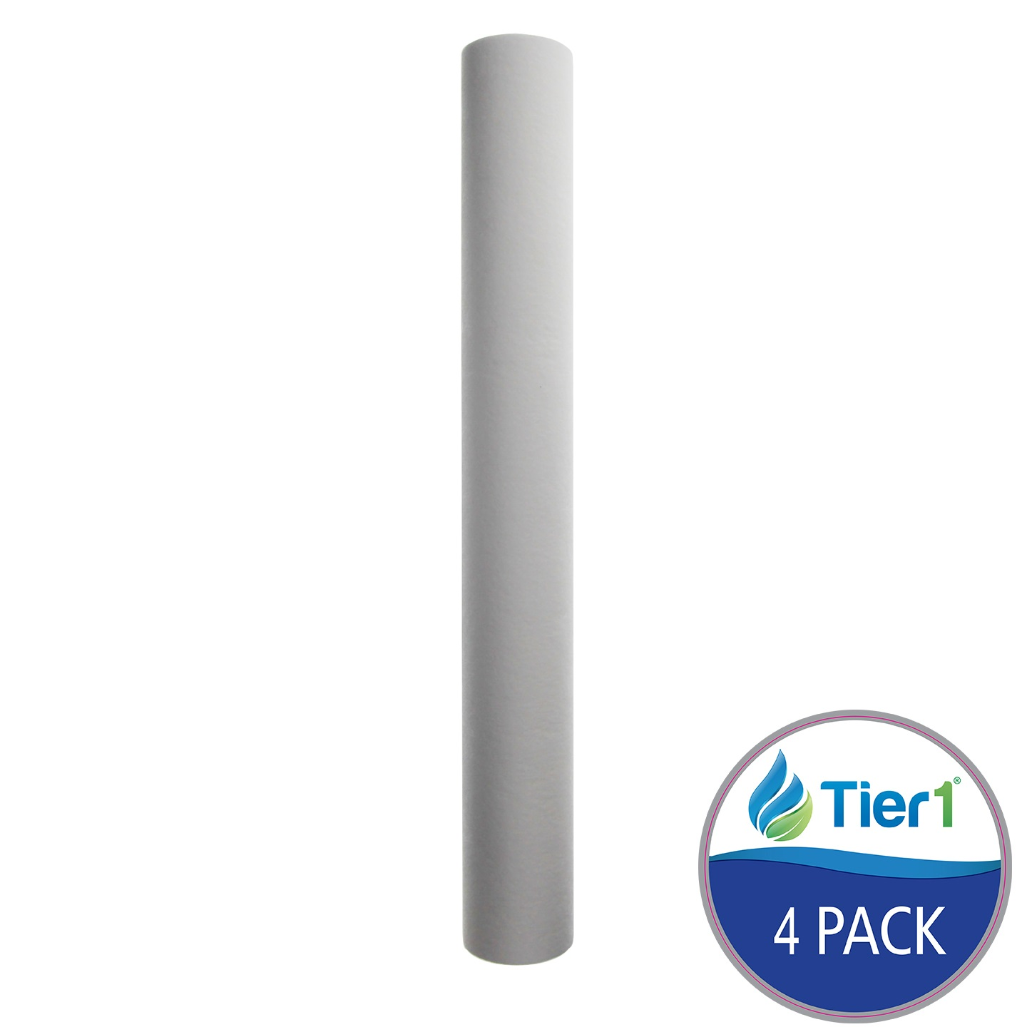 20 X 2.5 Spun Wound Polypropylene Replacement Filter by Tier1 (10 micron) (4-Pack) TIER1_P10_20_4_PACK