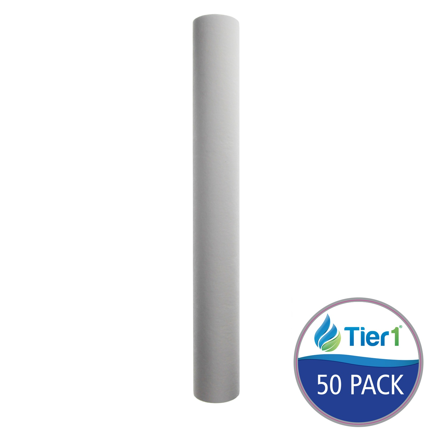 20 X 2.5 Spun Wound Polypropylene Replacement Filter by Tier1 (10 micron) (50-Pack) TIER1_P10_20_50_PACK