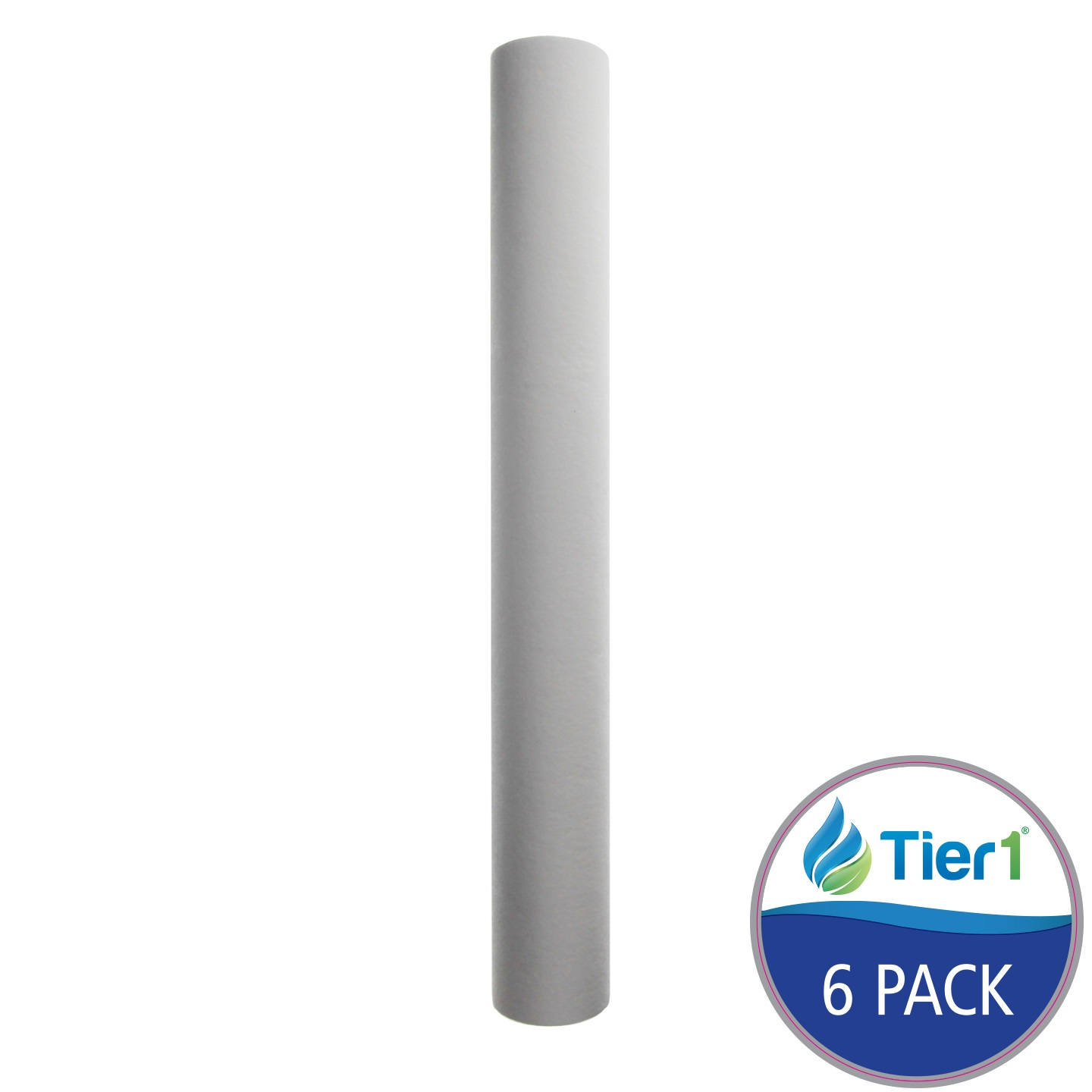 20 X 2.5 Spun Wound Polypropylene Replacement Filter by Tier1 (10 micron) (6-Pack) TIER1_P10_20_6_PACK