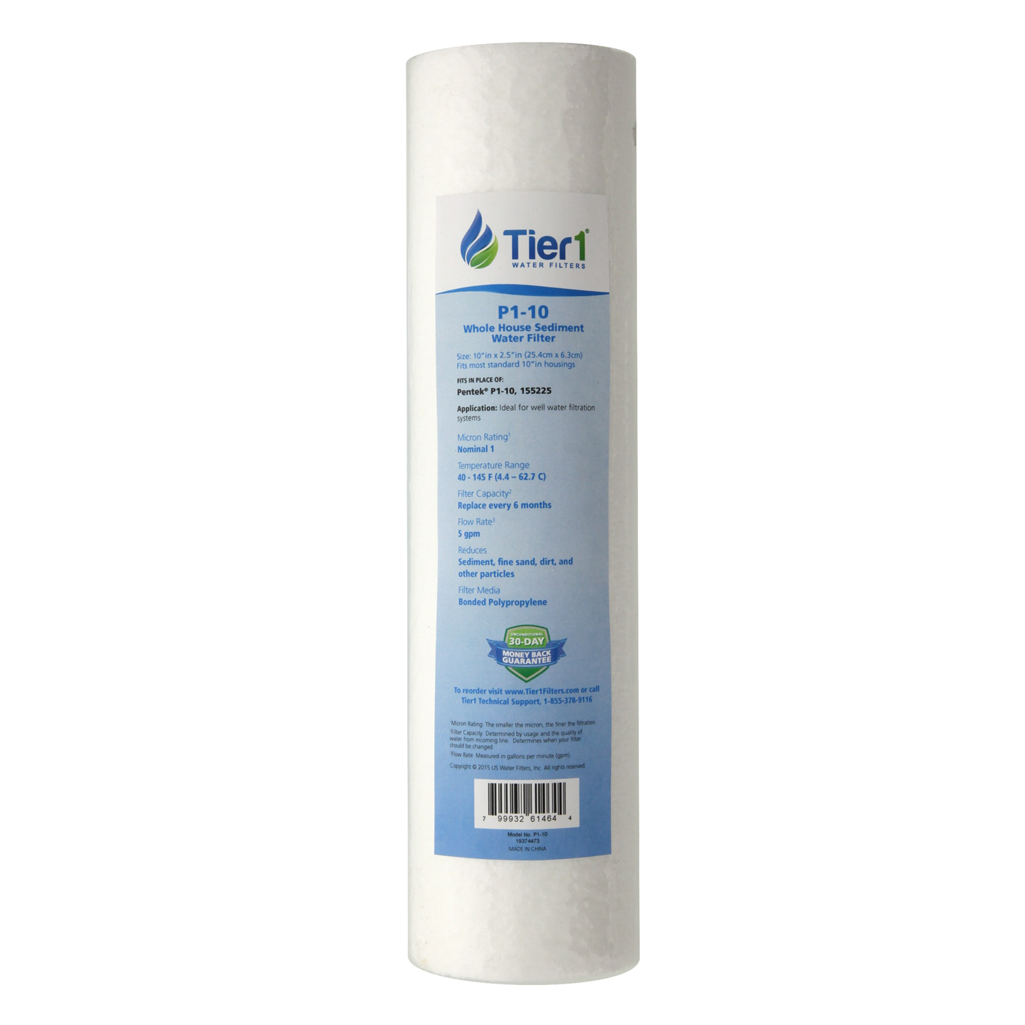 Pentek P1 Comparable Whole House Sediment Water Filter by Tier1