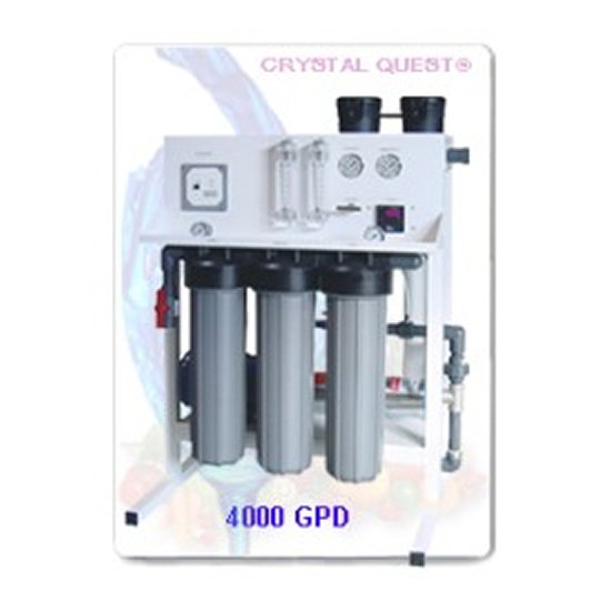 Crystal Quest Commercial Reverse Osmosis 4,000 GPD Water Filter System