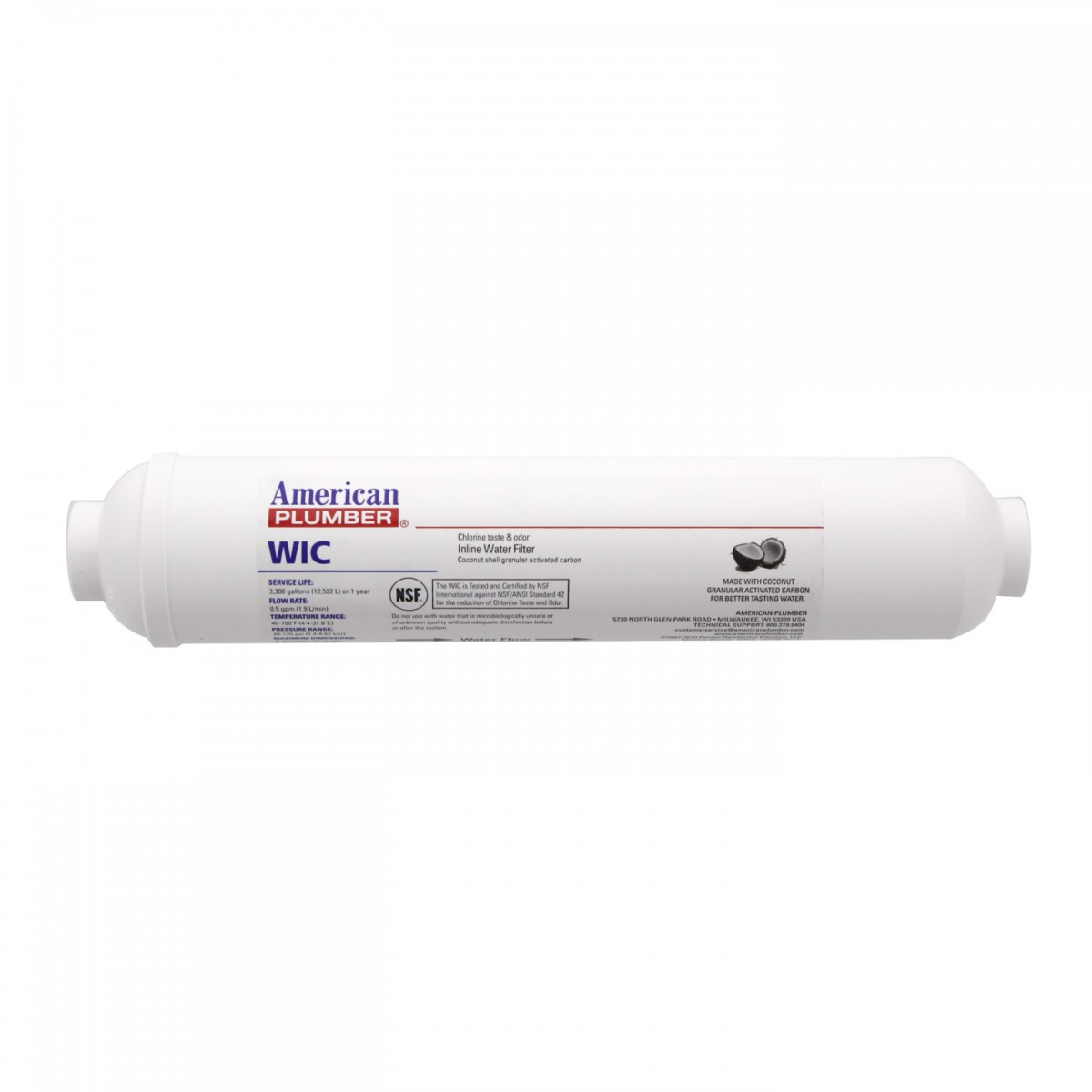 American Plumber WIC In-line Quick Connect Filter