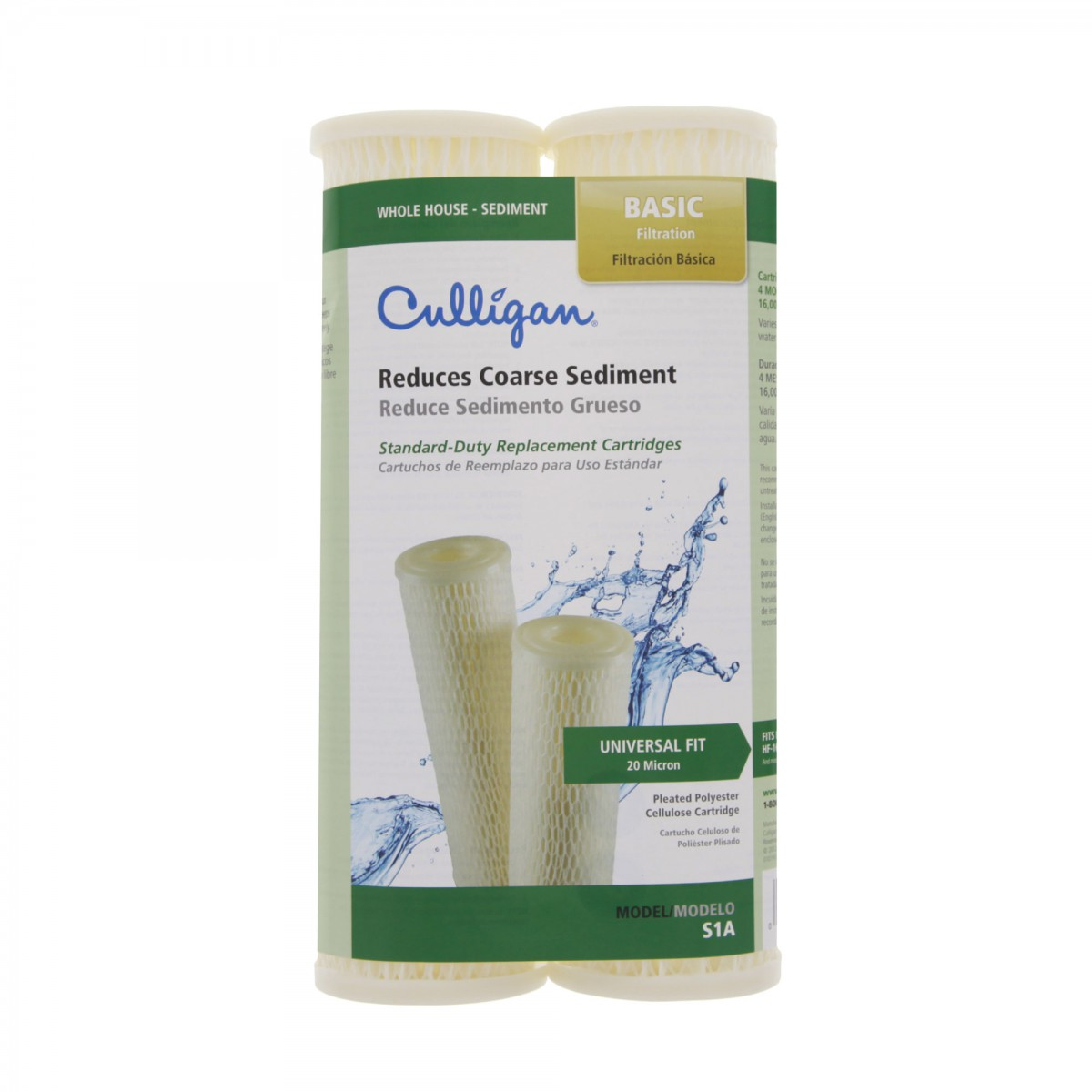 Whole House Water Sediment Filter Culligan S1 Sediment Filter 2 Pack