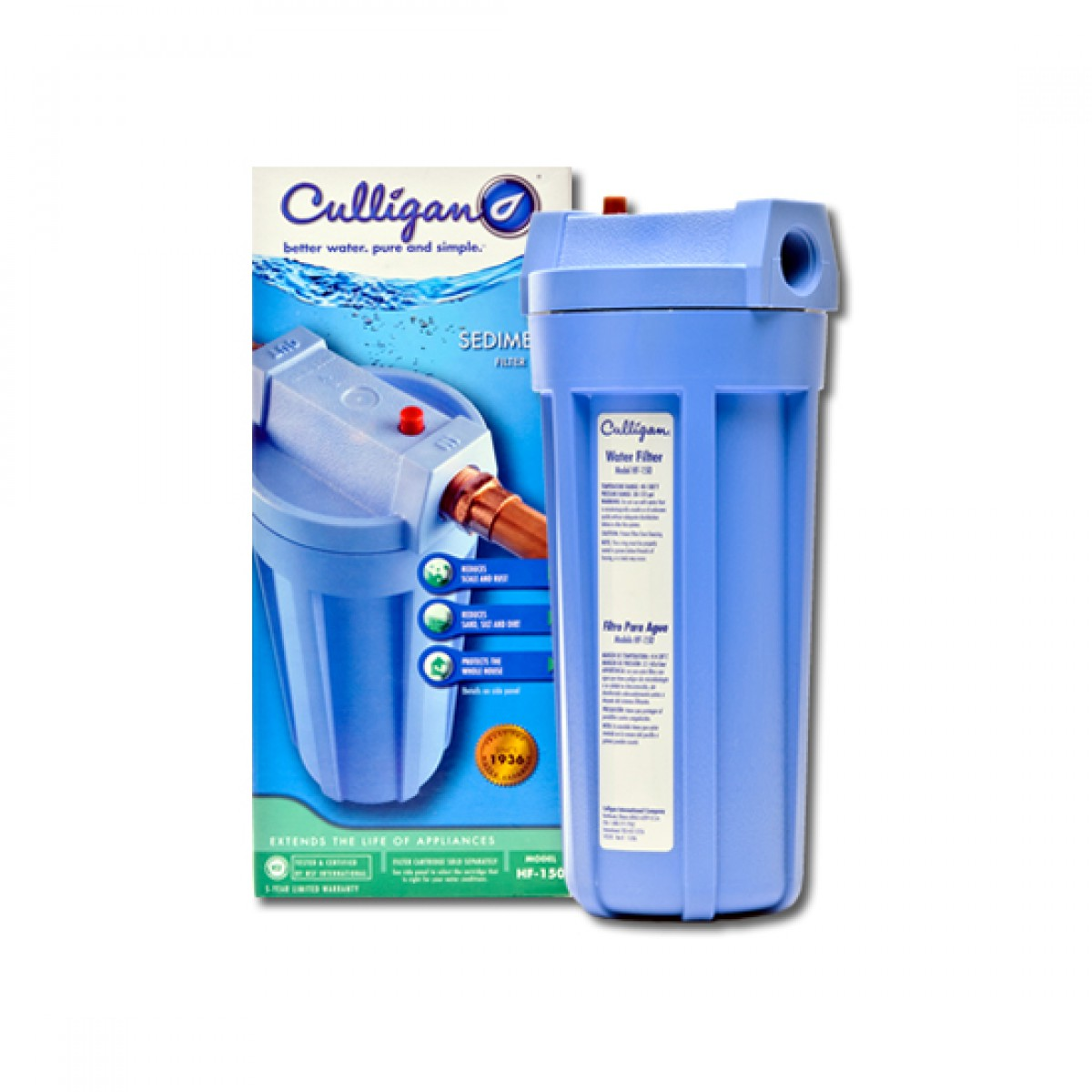 House Water Filter Culligan Hf 150a Whole House Water Filter Housing