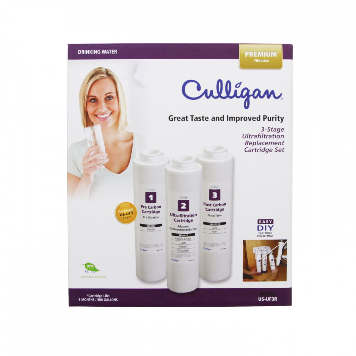 Culligan Us Uf3r Ultrafiltration Replacement Water Filter