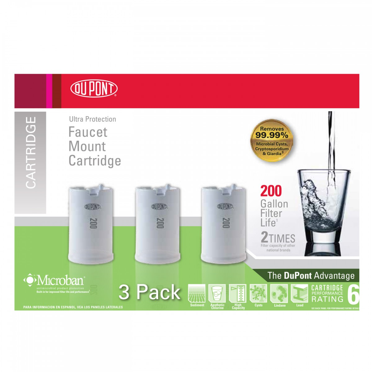 WFFMC303X Faucet Mount Replacement Cartridges DuPont- WaterFilters.net