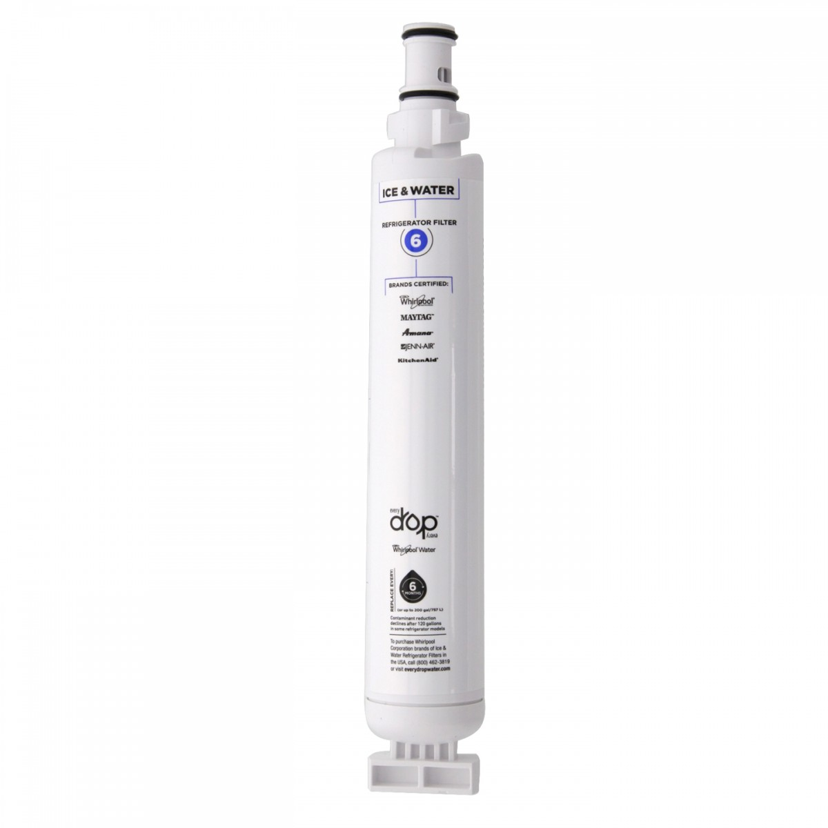 EveryDrop Ice and Water Refrigerator Filter 6 by Whirlpool
