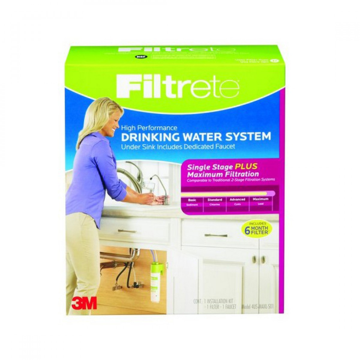 Filtrete 4us Maxl S01 Single Stage Drinking Water System