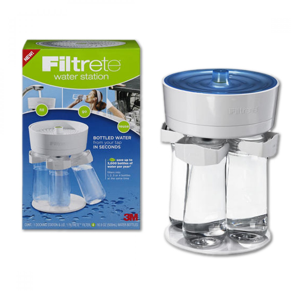 3m filtrete ws01 wh water filtration station with 4