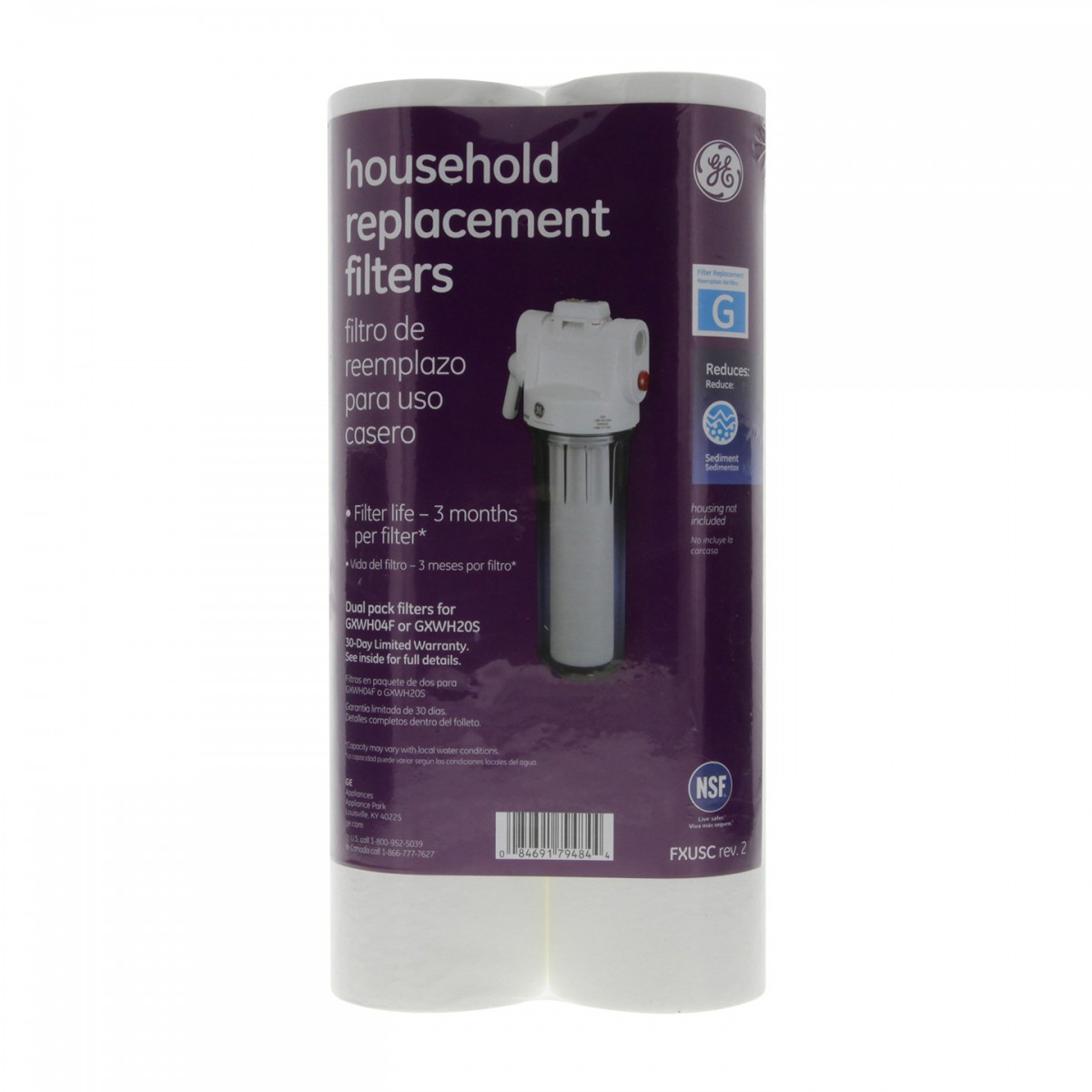 Whole House Sediment Water Filter Ge Fxusc Water Filters And Ge Smartwater Fxusc Sediment Filter 2 Pck