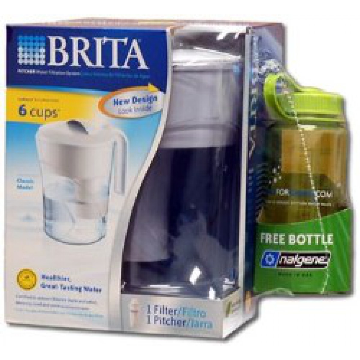 Brita Ob01 Classic Water Filter Pitcher With Nalgene Bottle