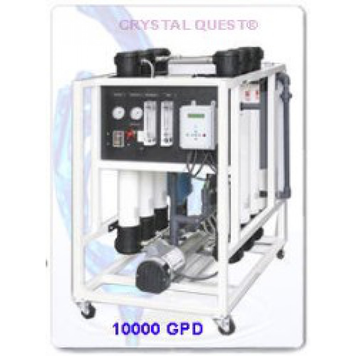 crystal quest commercial reverse osmosis 10000 gpd water filter system - Commercial Water Filtration System