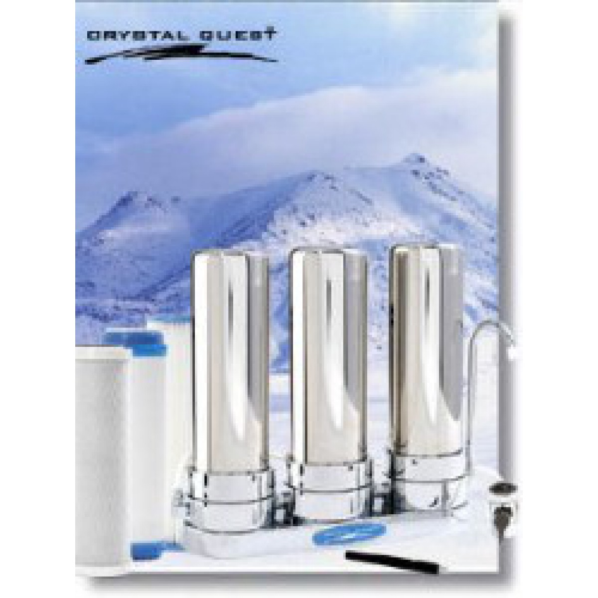Countertop Water Filter Reviews : Crystal Quest Countertop Replaceable Triple Multi PLUS Water Filter ...
