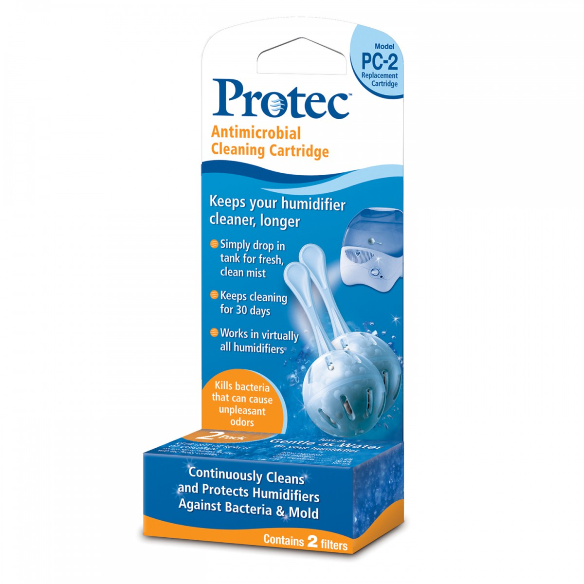Pc 2bxn Antimicrobial Cleaning Cartridge 2 Pack By Protec