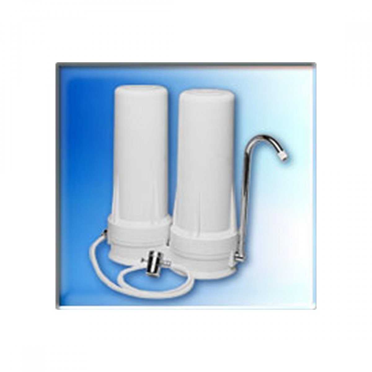 Home Water Filter System Qmp603 Two Stage Countertop Water Filter System