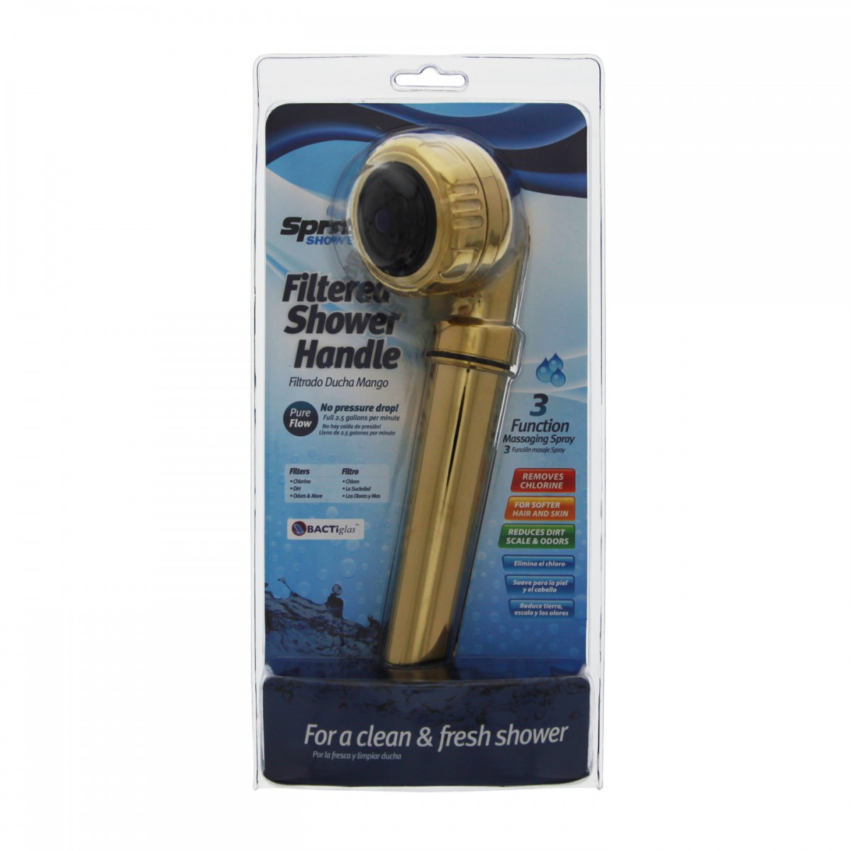 sprite hh gd handheld gold shower filter system. Black Bedroom Furniture Sets. Home Design Ideas