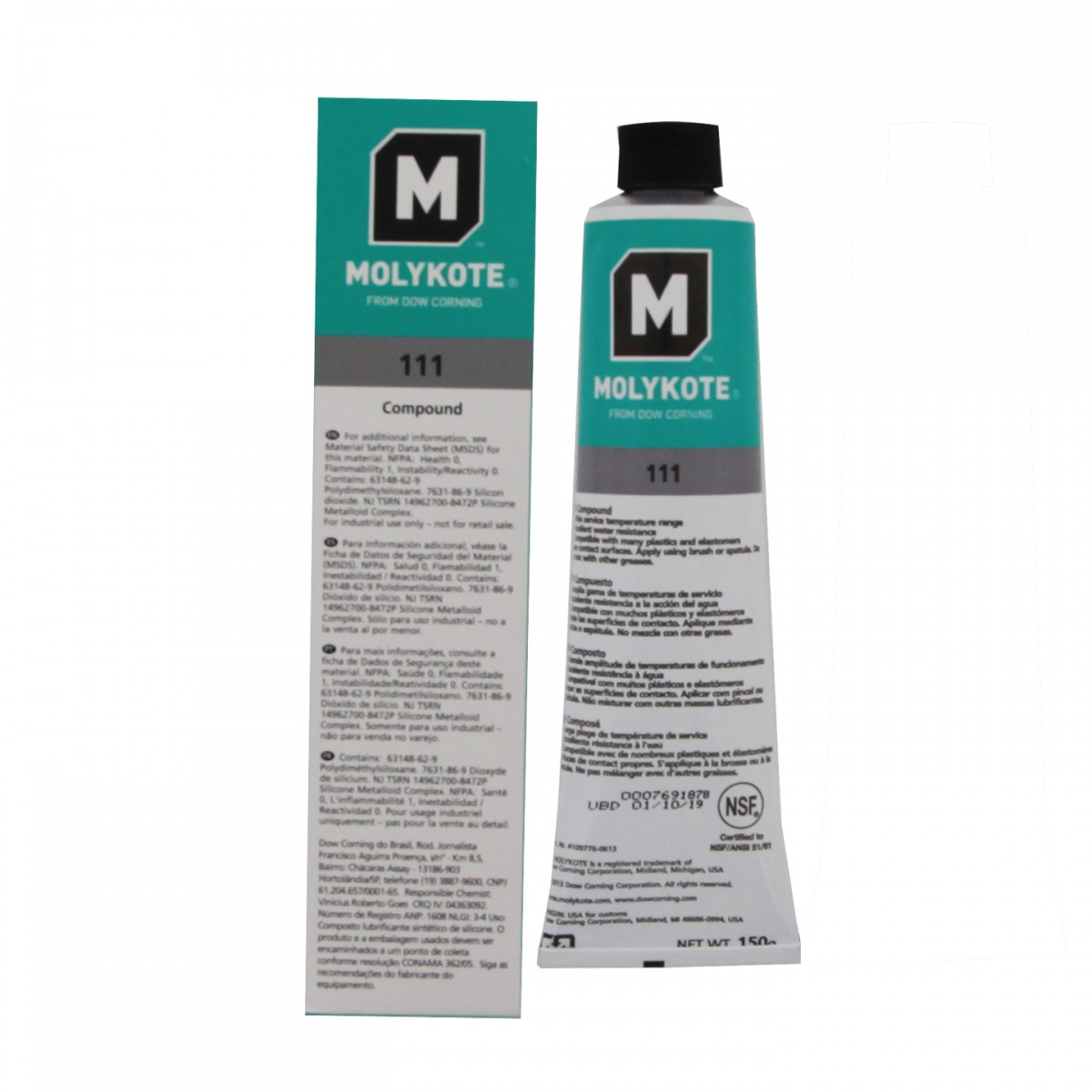 Dow Corning Molykote 111 O-Ring Silicone Lubricant (5 3 oz  Tube)
