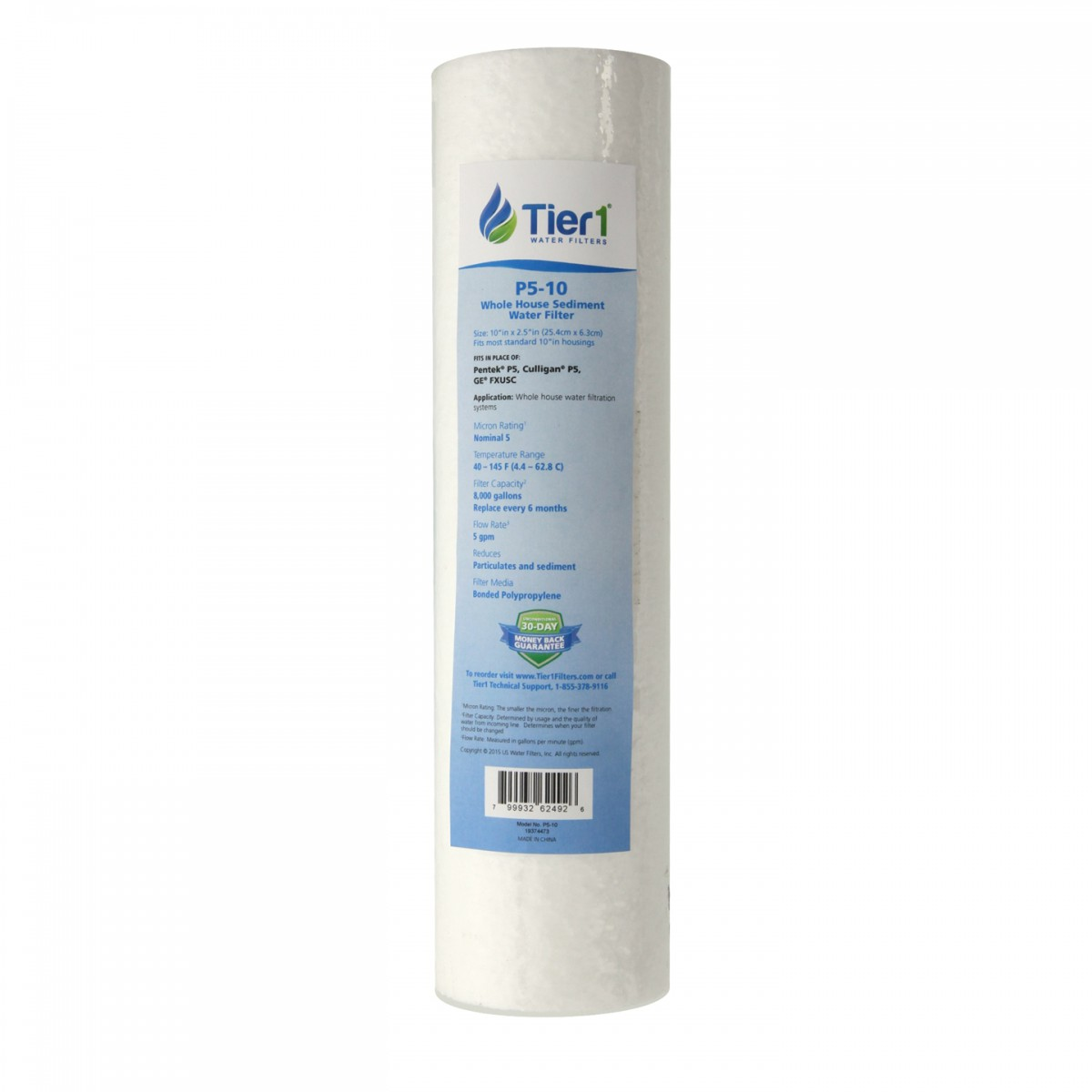 Household Water Filtration Tier1 P5 10 Sediment Water Filter