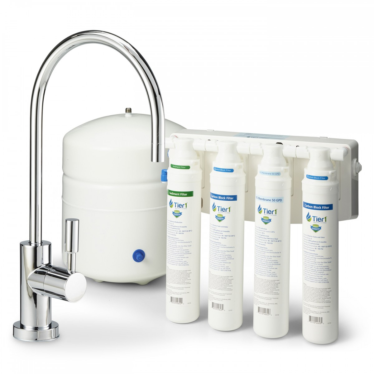 Tier1 Ro Qc 4 50 Stage Quick Change Reverse Osmosis Water Filter System Gpd