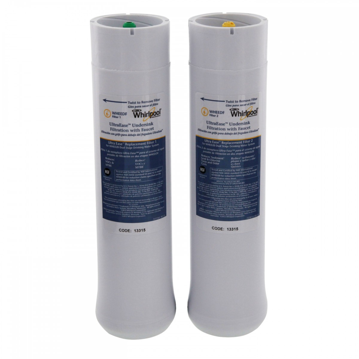 Nsf Certified Water Filter Whirlpool WHEEDF UltraEase Replacement Filter Pack