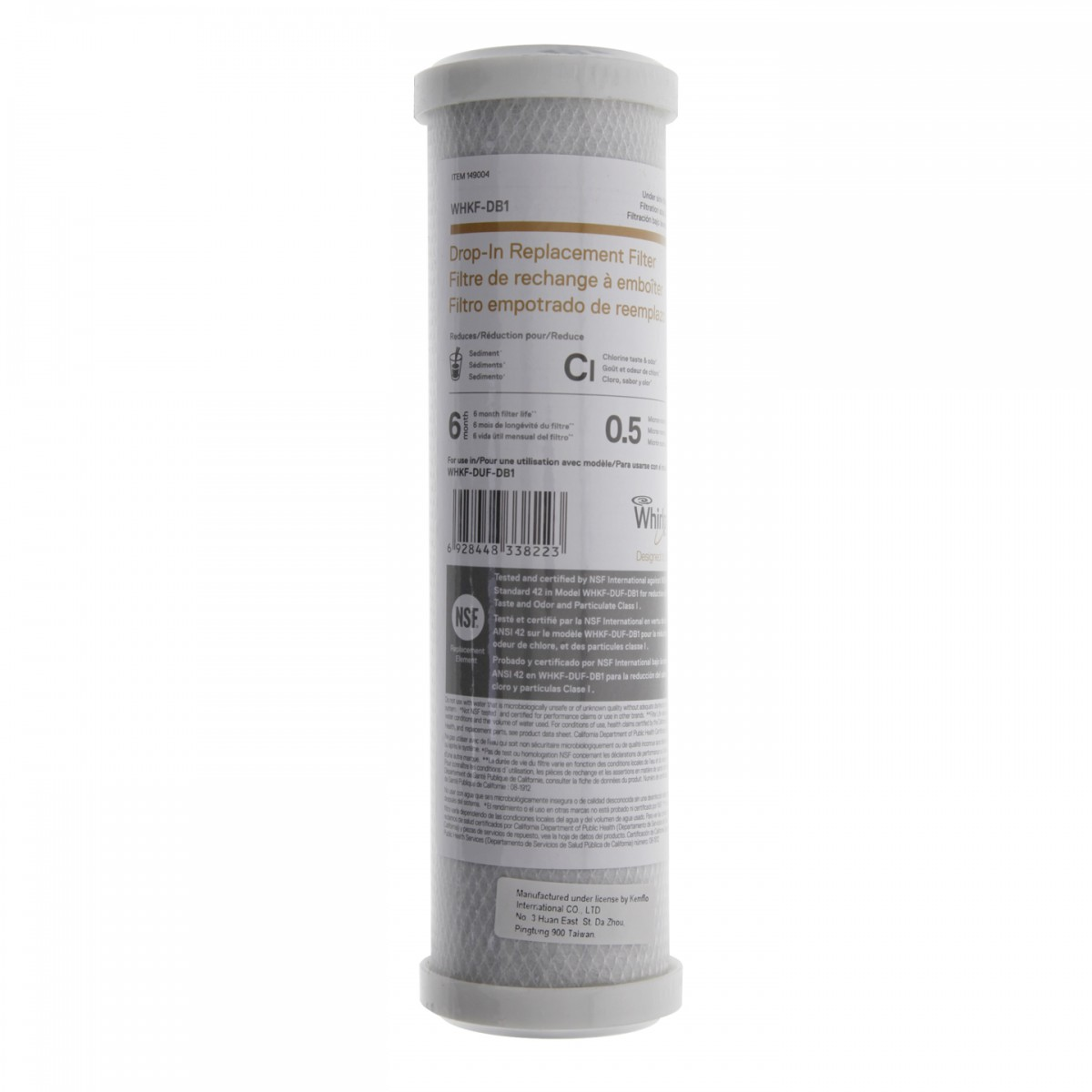 Whirlpool Whkf Db1 Under Sink Arbon Water Filter Cartridge