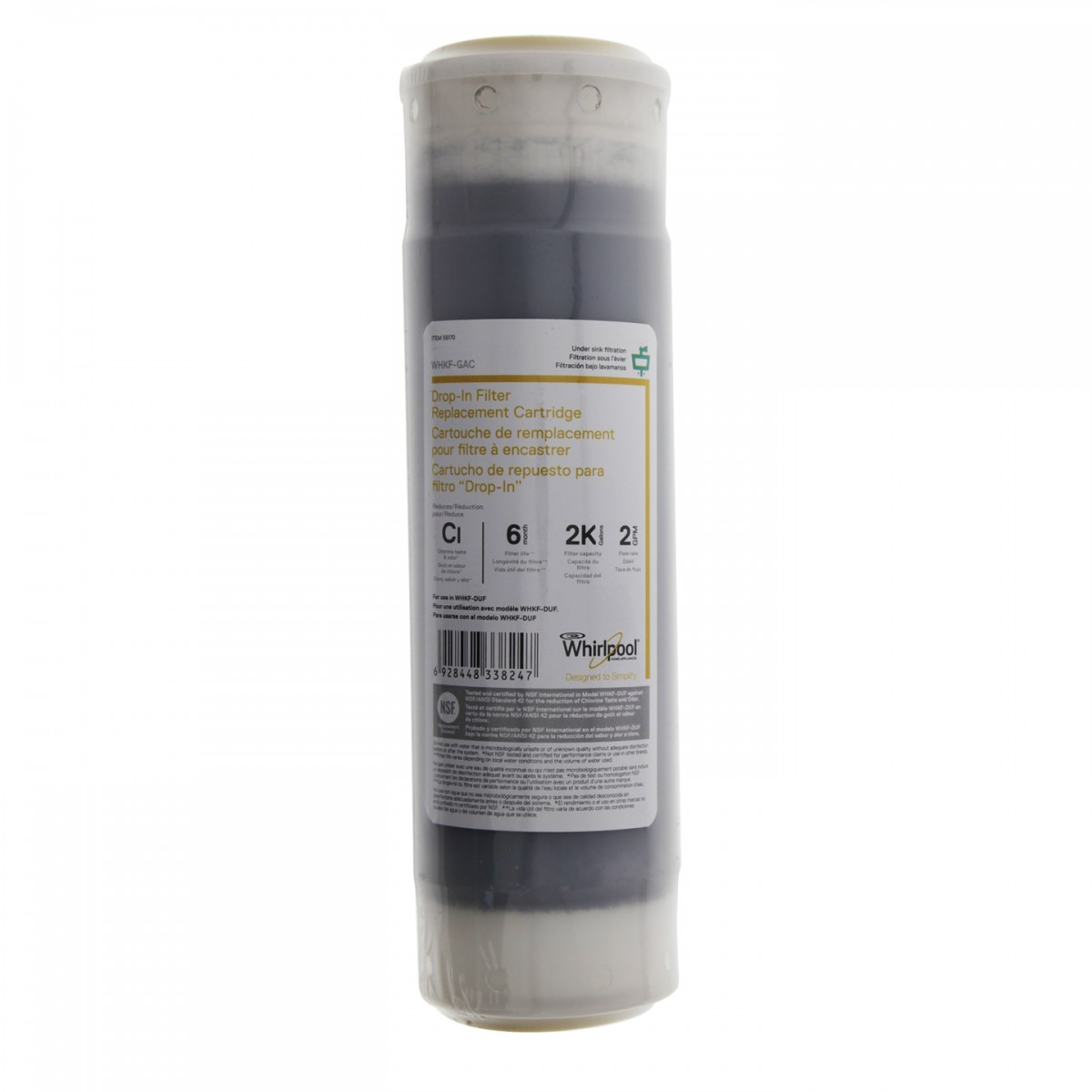 whirlpool whole house water filter. Whirlpool WHKF-GAC Under Sink Replacement Carbon Water Filter Cartridge (9.75-Inch X 2.5-Inch) Whole House T