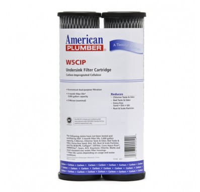 American Plumber W5CIP Carbon Wrap Water Filters