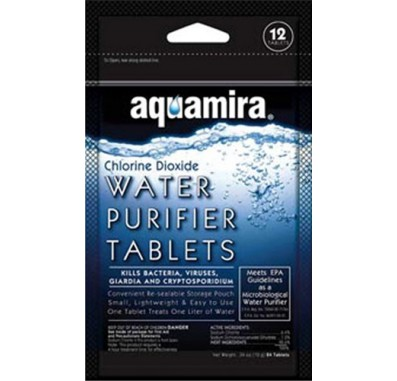 Aquamira 67400 Water Purifier Tablets (12-Pack)