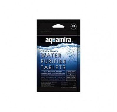 Aquamira 67401 Water Purifier Tablets (24-Pack)