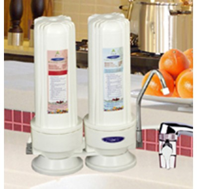 Crystal Quest Countertop Replaceable Double Fluoride PLUS Water Filter System