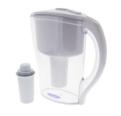 Crystal Quest CQE-PI-00600 Clear Water Filter Pitcher