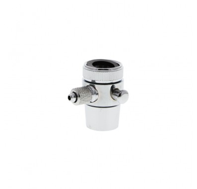 Crystal Quest C2 1/4-Inch Tube countertop push-in diverter w/Collar