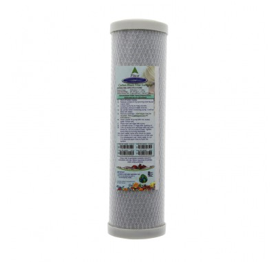Crystal Quest 2-7/8 in x 9-3/4 in, 5-Micron Carbon Block Filter Cartridge