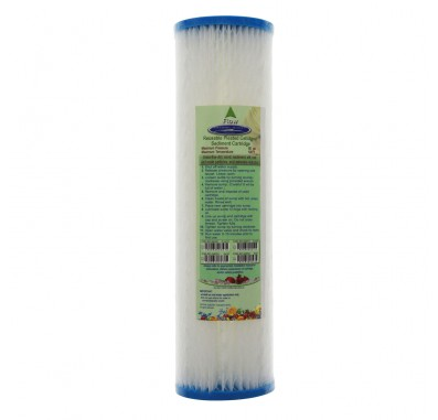 Crystal Quest 2-7/8 in x 9-3/4 in, 5-Micron Sediment Reusable Pleated Filter Cartridge