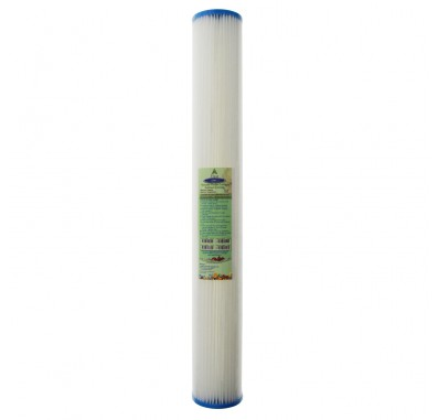 Crystal Quest 2-7/8 in x 20 in, 5-Micron Sediment Reusable Pleated Filter Cartridge