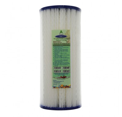 Crystal Quest 4-5/8 in x 9-3/4 in, 5-Micron Sediment Reusable Pleated Filter Cartridge