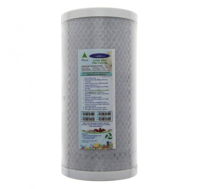 Crystal Quest 4-5/8 in x 9-3/4 in, 5-Micron Carbon Block Filter Cartridge