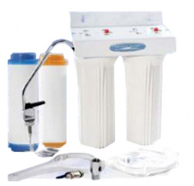 Crystal Quest Undersink Replaceable Double Fluoride Water Filter System