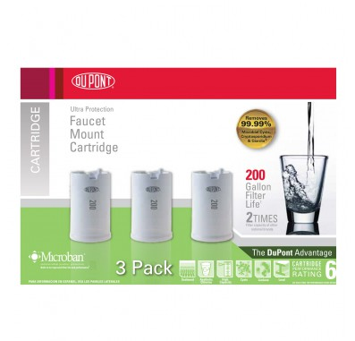 WFFMC303X Faucet Mount Replacement Cartridges - Ultra Protection Filter by DuPont (3-pack)