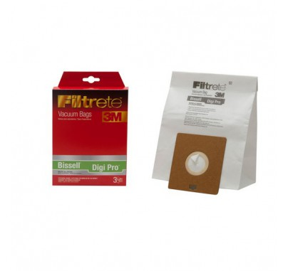Filtrete 68709A Bissell Digi Pro Vacuum Bags (3-Pack)