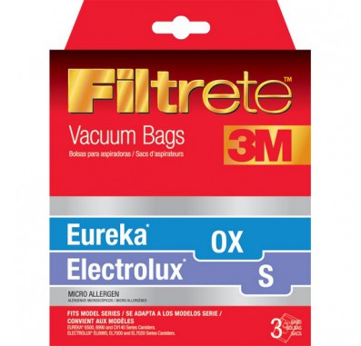 Filtrete 67710 Electrolux S and Eureka OX Vacuum Bags (3-Pack)